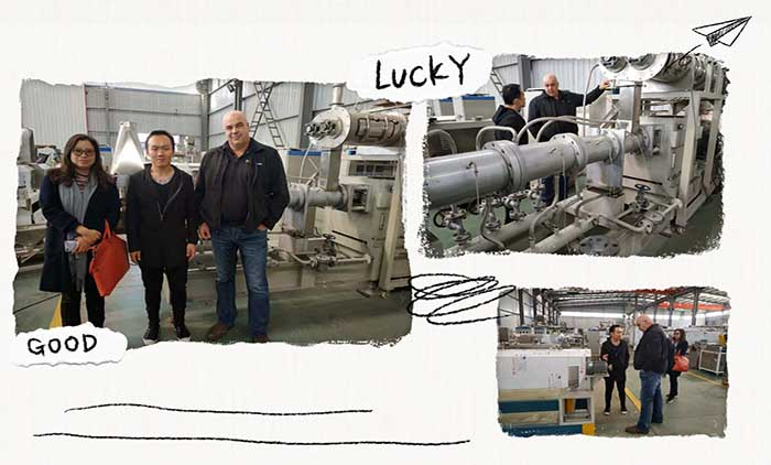 USA Customer Visited Soya Protein Processing Line