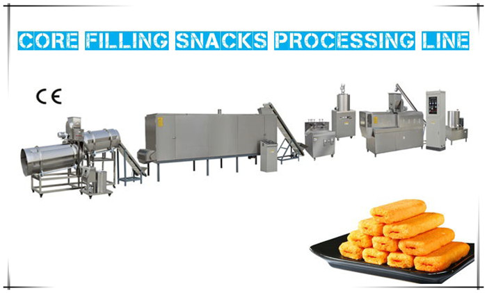 Twin Screw Extruder for Core Filling Snacks  Processing Line