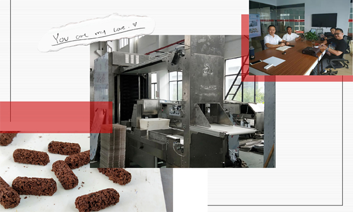 Welcome Indonesia Customer's Visit for Oatmeal Chocolate Forming Machine