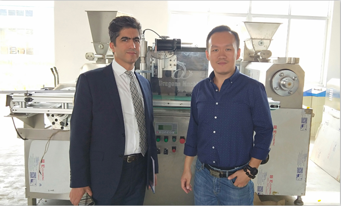 Welcome Iran Customer's Visit for Corn Flakes Machine