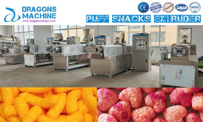 How a Corn Puff Made by Corn Puff Extrusion Line?