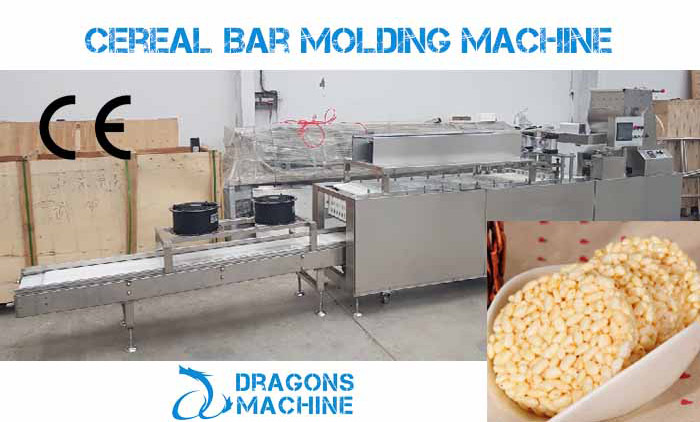 Cereal Bar Molding Machine is Running at Customer's Factory